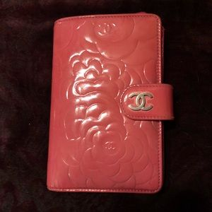 Authentic Chanel Pink Camellia Bifold